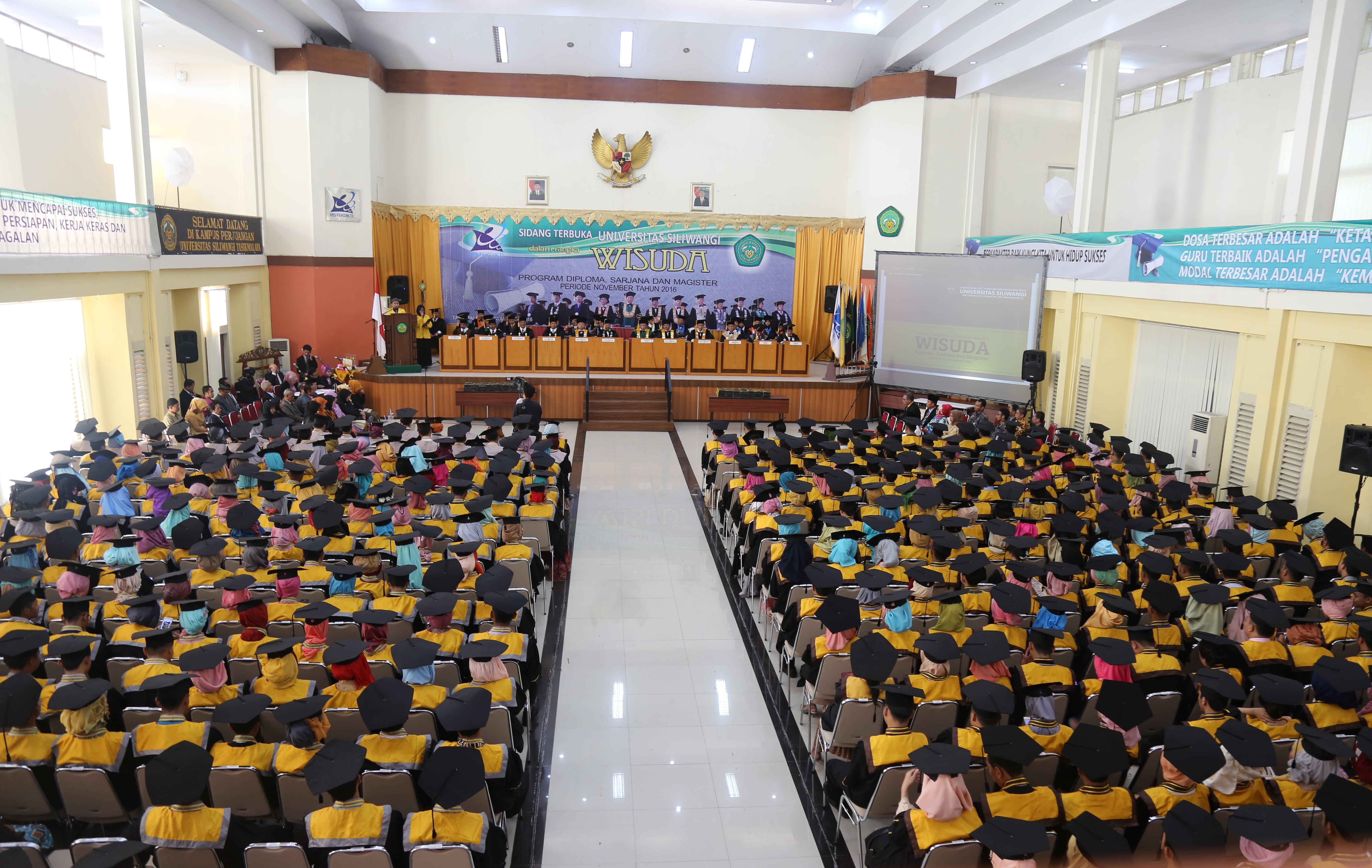 Jadwal Gladi Wisuda dan Jadwal Kedatangan Calon Wisudawan/ti Program Diploma, Sarjana dan Magister Periode II Tahun Akademik 2016/2017