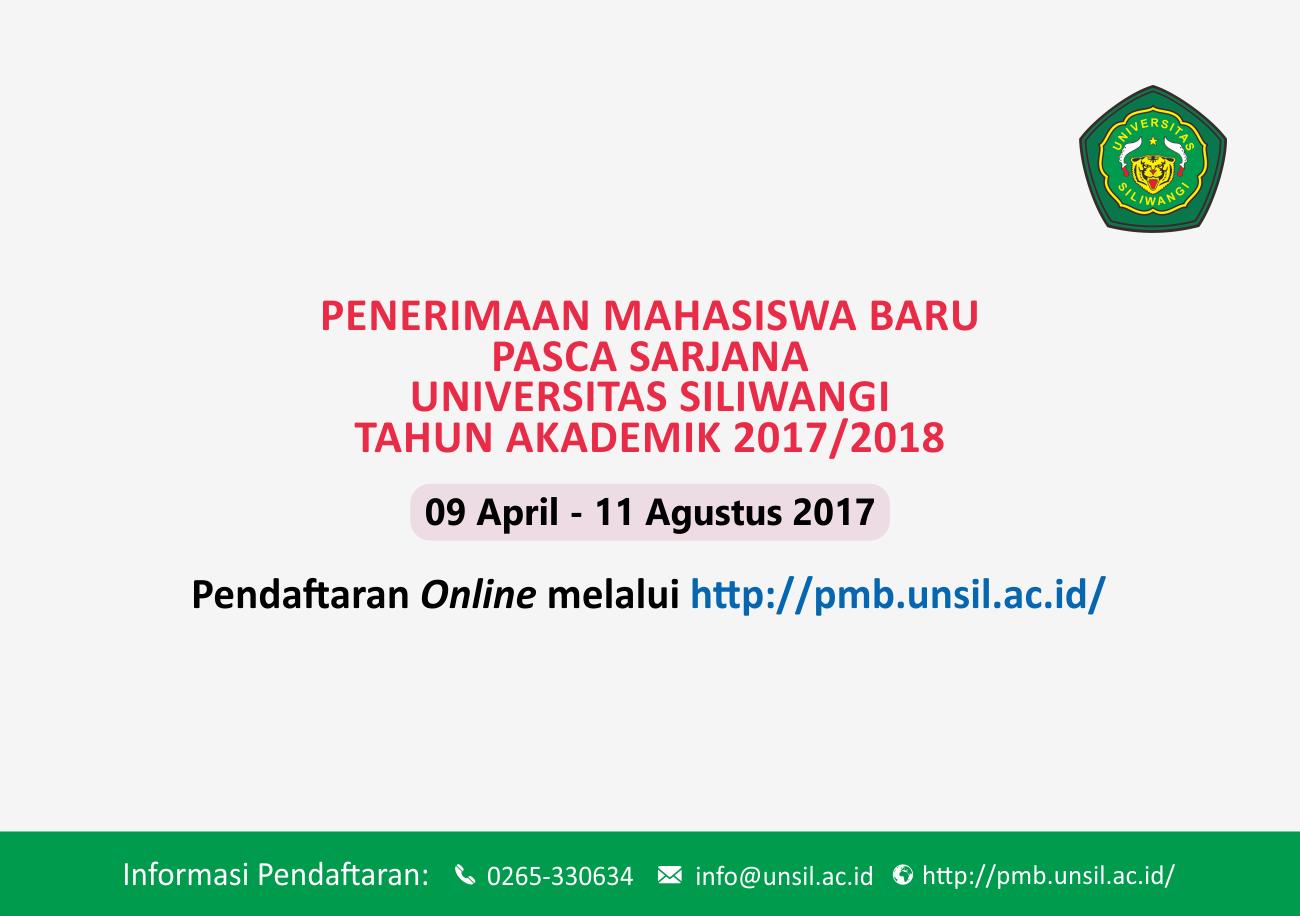 Info PMB Pasca Sarjana Tahun Akademik 2017/2018